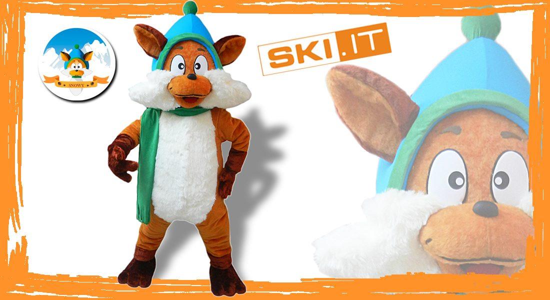 Ski Snowy Mascotte